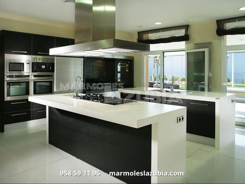 Encimeras de marmol para baos cocina amplia isla encimera marmol ideas mrmoles jllaneza - Encimera marmol ...