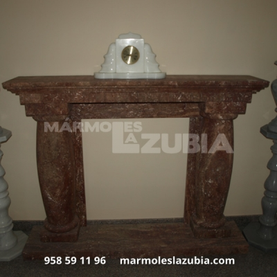 Chimenea de mármol Rojo Travertino
