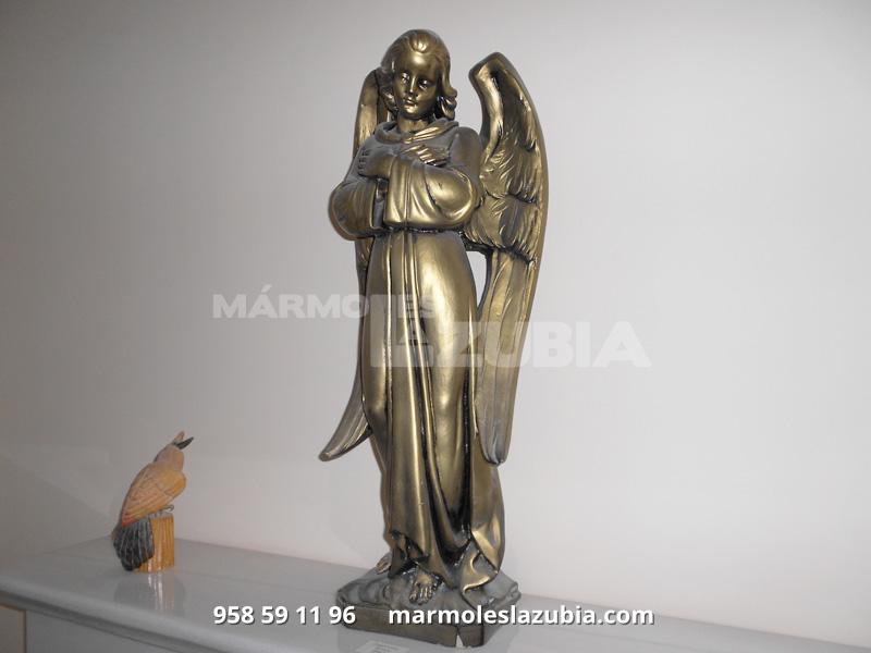 Angel de marmolina lacado en bronce
