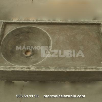 Fregadero macizo de mármol Sierra Elvira envejecido
