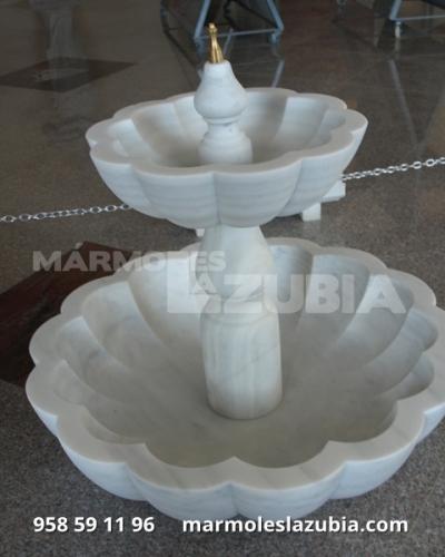 Fuente de mármol blanco macael